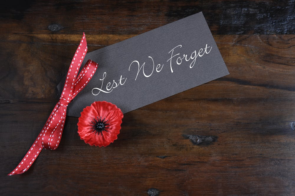100 year anniversary of the end of the First World War